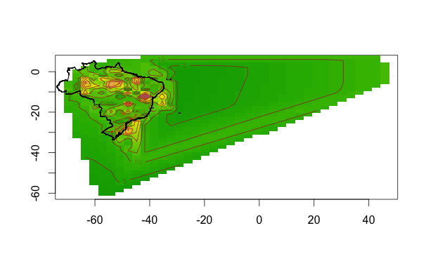 densidade do brasil